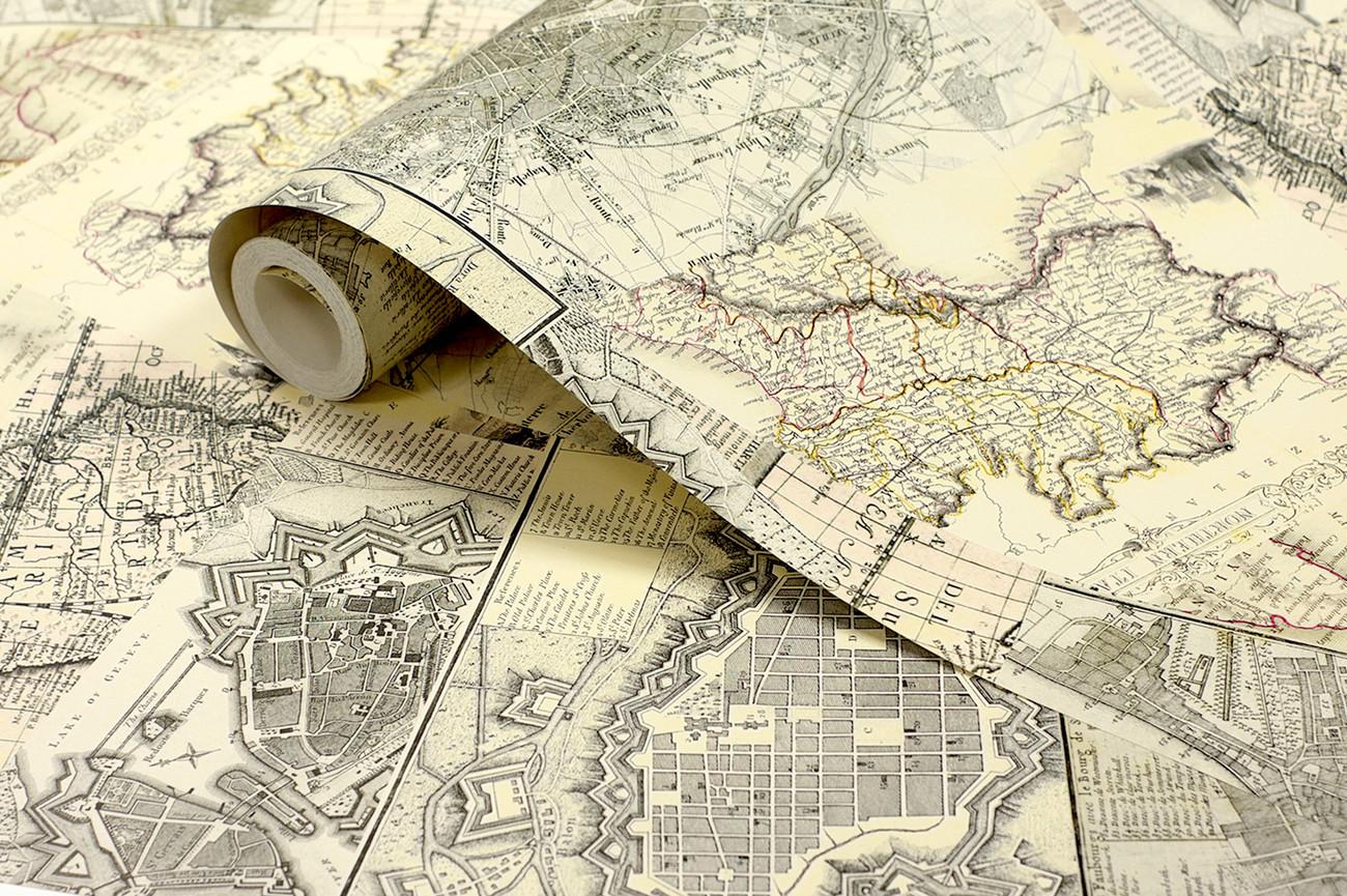 Fotomurale Mapas antiguos, Papel pintado | Europosters.es
