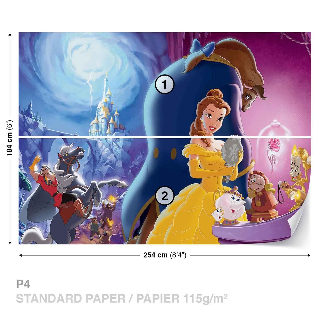 Fotomurale Princesas de Disney Belle La bella y la Bestia, Papel ...