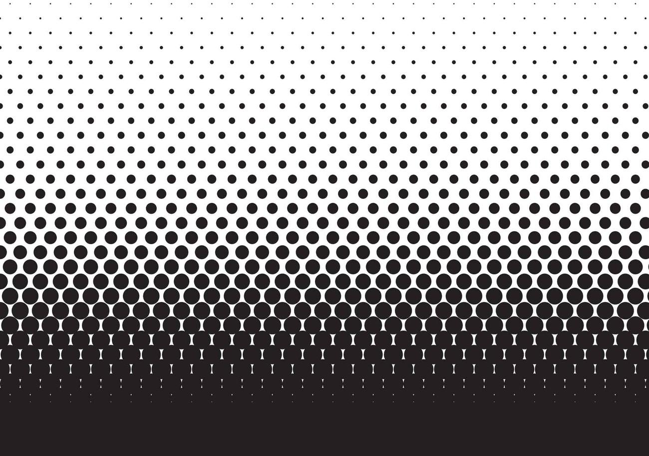 Fotomurale Puntos negros negros abstractos, Papel pintado ...