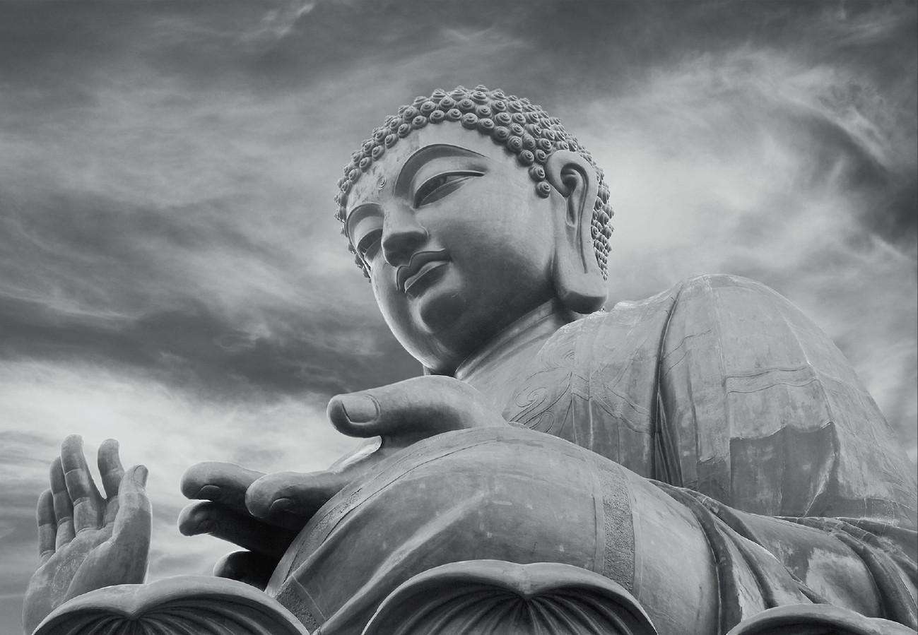 Buddha black and white tapéta fotótapéta