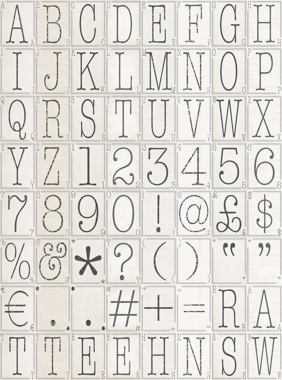 Letters Fali tapéta