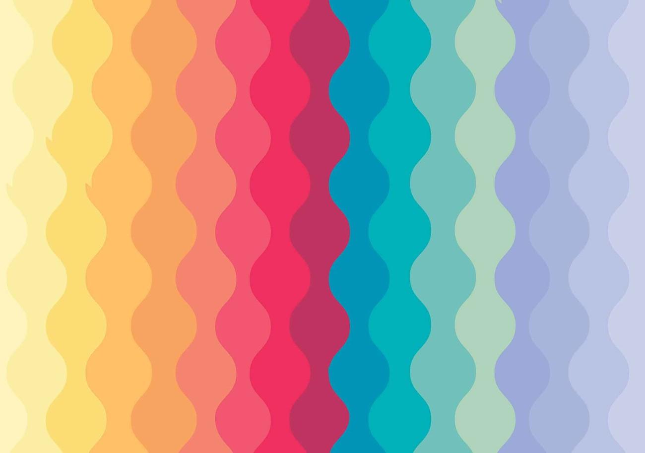 Modern Art Rainbow Fotótapéta, Fali tapéta, Tapéta az ...