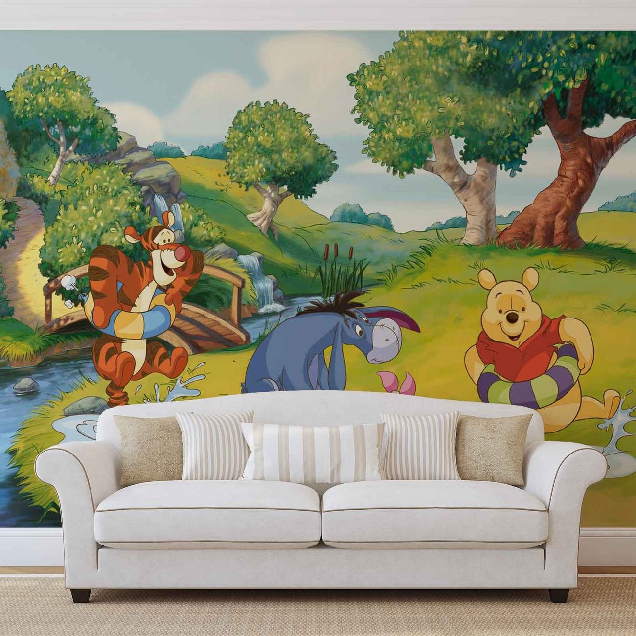 disney winnie pooh tigger eeyore piglet fototapeta tapeta. Black Bedroom Furniture Sets. Home Design Ideas