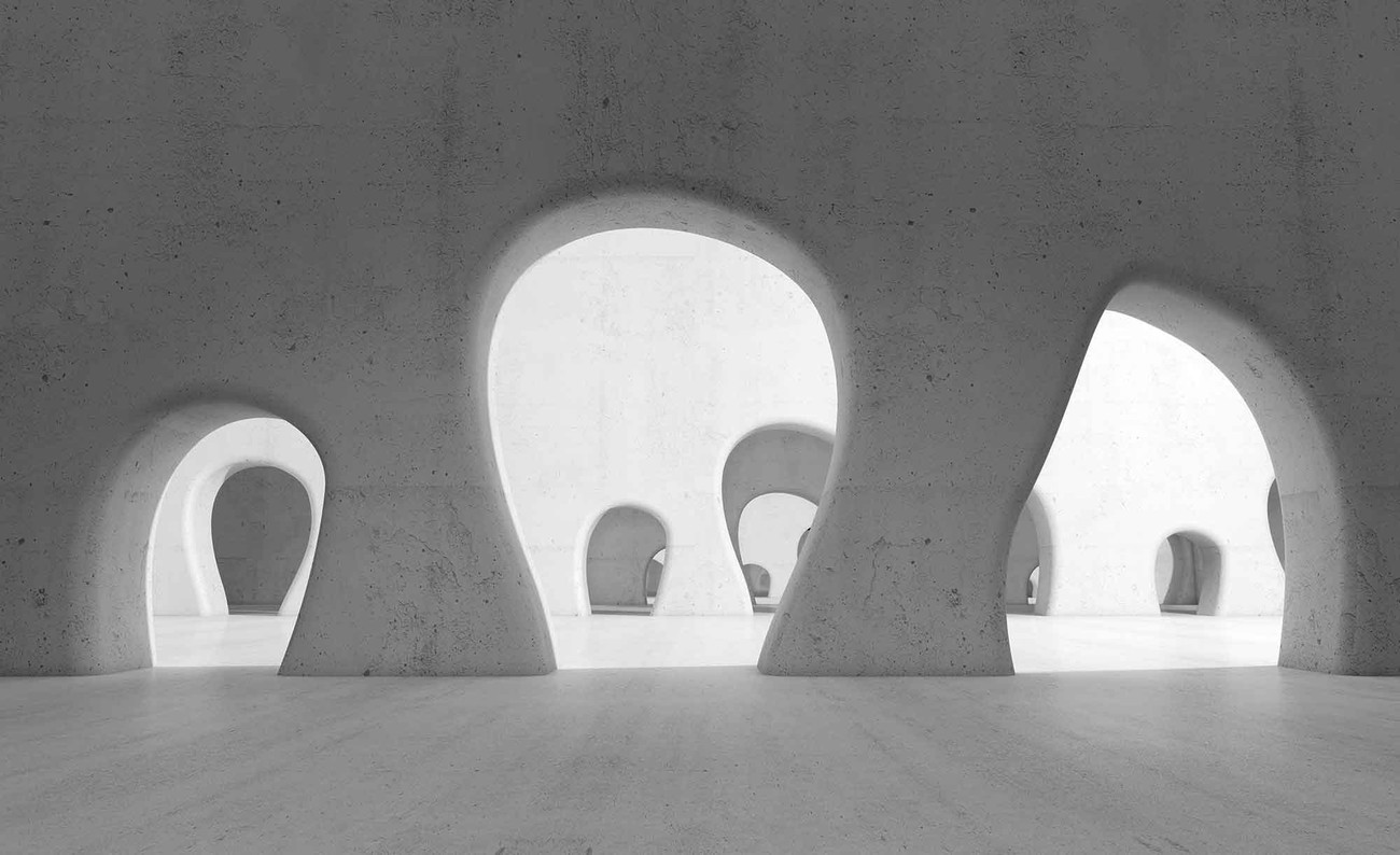 Fototapete tapete abstrakte moderne architektur bei europosters kostenloser versand - Moderne fototapeten ...