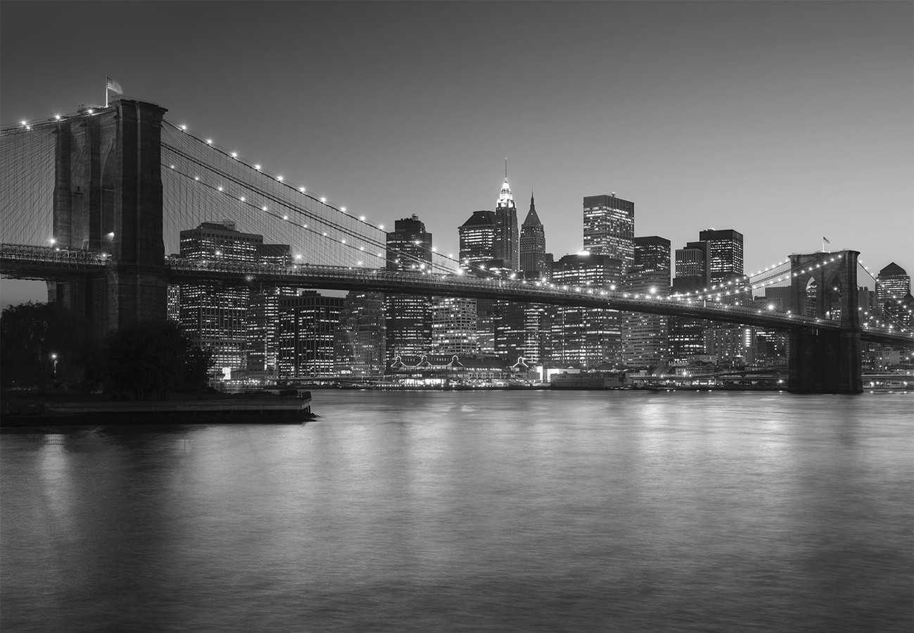 fototapete tapete brooklyn bridge new york bei. Black Bedroom Furniture Sets. Home Design Ideas