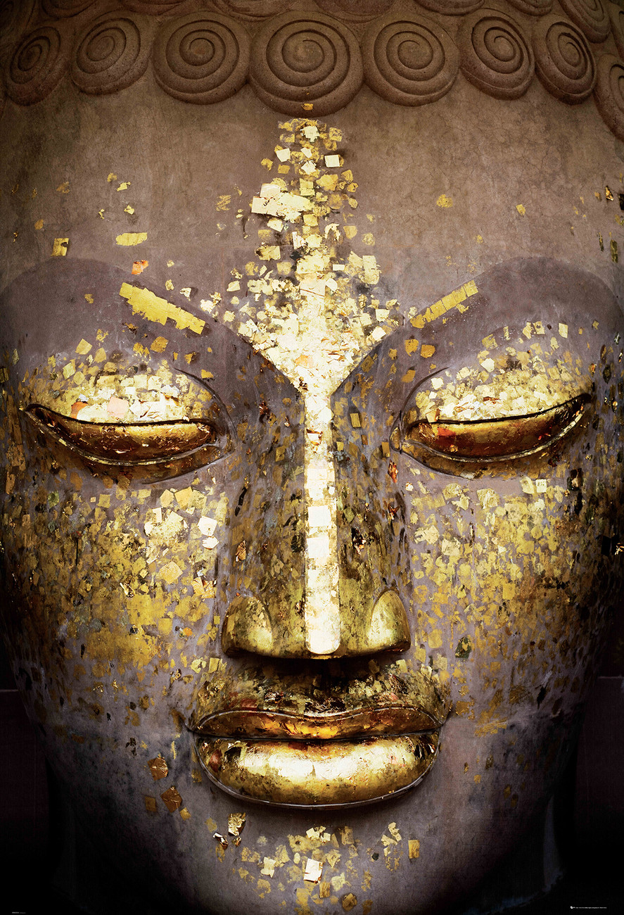 Fototapete Tapete Buddha Face Bei Europosters