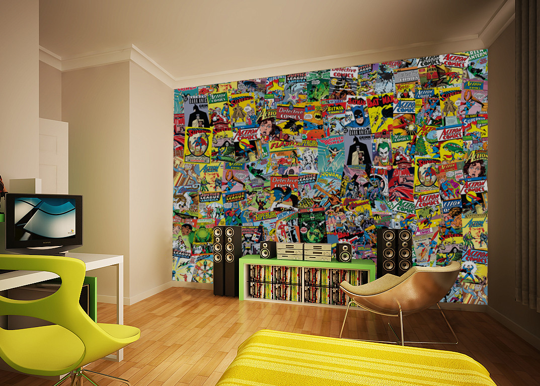 fototapete tapete comic bei europosters kostenloser versand. Black Bedroom Furniture Sets. Home Design Ideas
