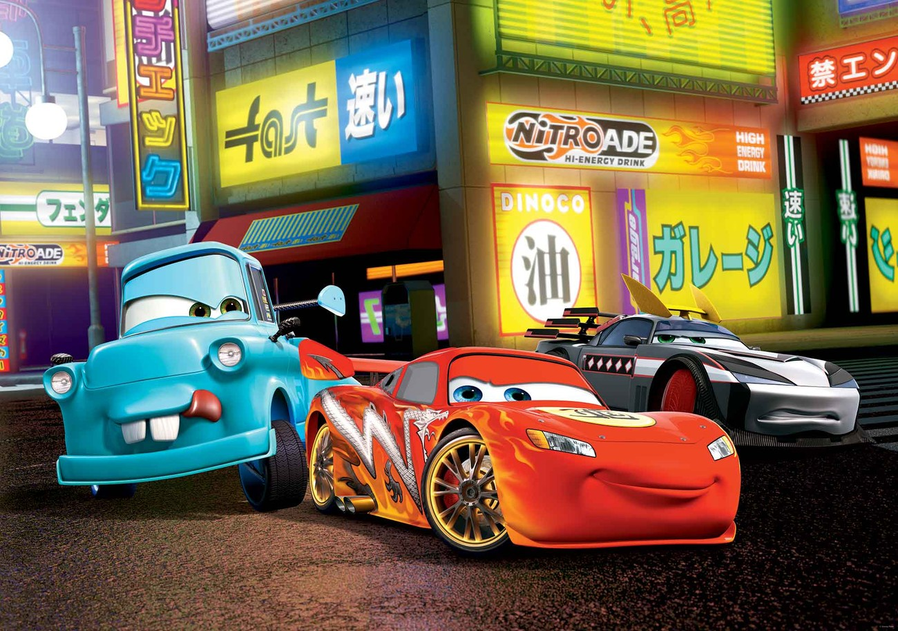 fototapete tapete disney cars lightning mcqueen bei europosters. Black Bedroom Furniture Sets. Home Design Ideas