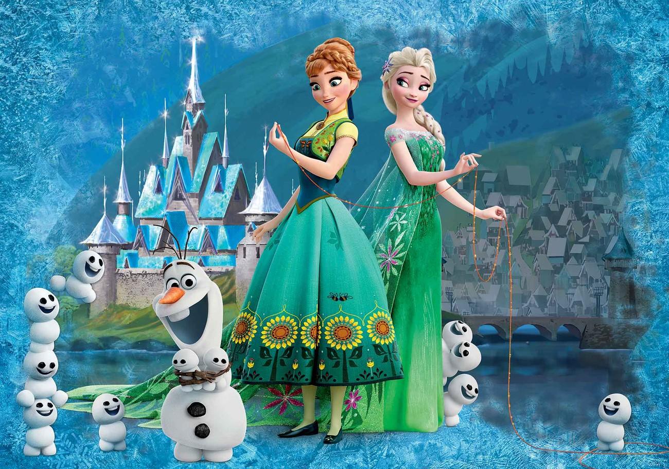 Gut gemocht Fototapete, Tapete Disney Frozen Eiskönigin Anna Elsa Olaf bei NN18