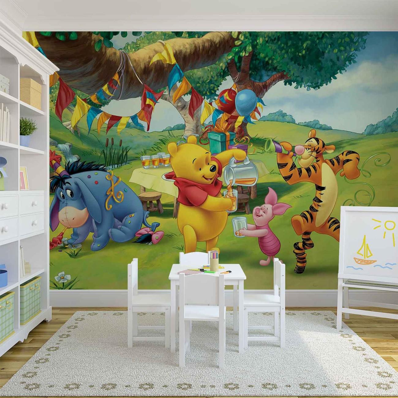 5fcebf7d5ae Fototapete, Tapete Disney Winnie Pu Bär Ferkel Tiger I-Aah bei ...