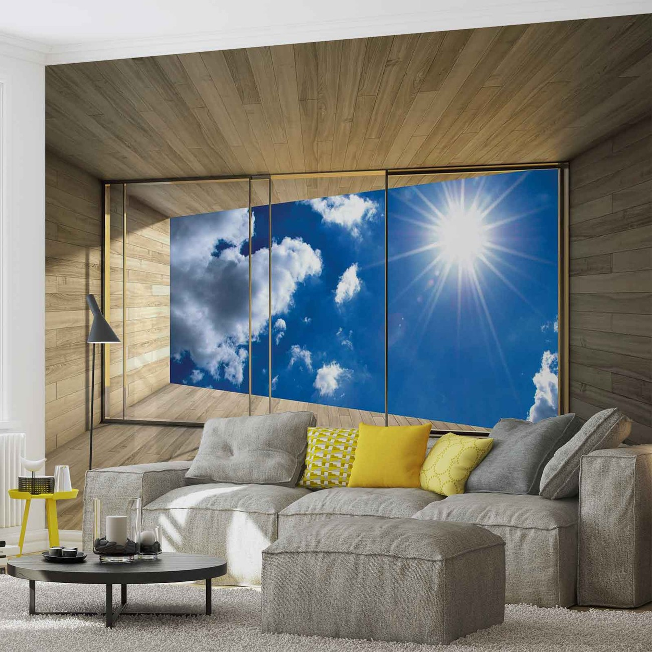 fototapete tapete fenster himmel wolken sonne natur bei. Black Bedroom Furniture Sets. Home Design Ideas