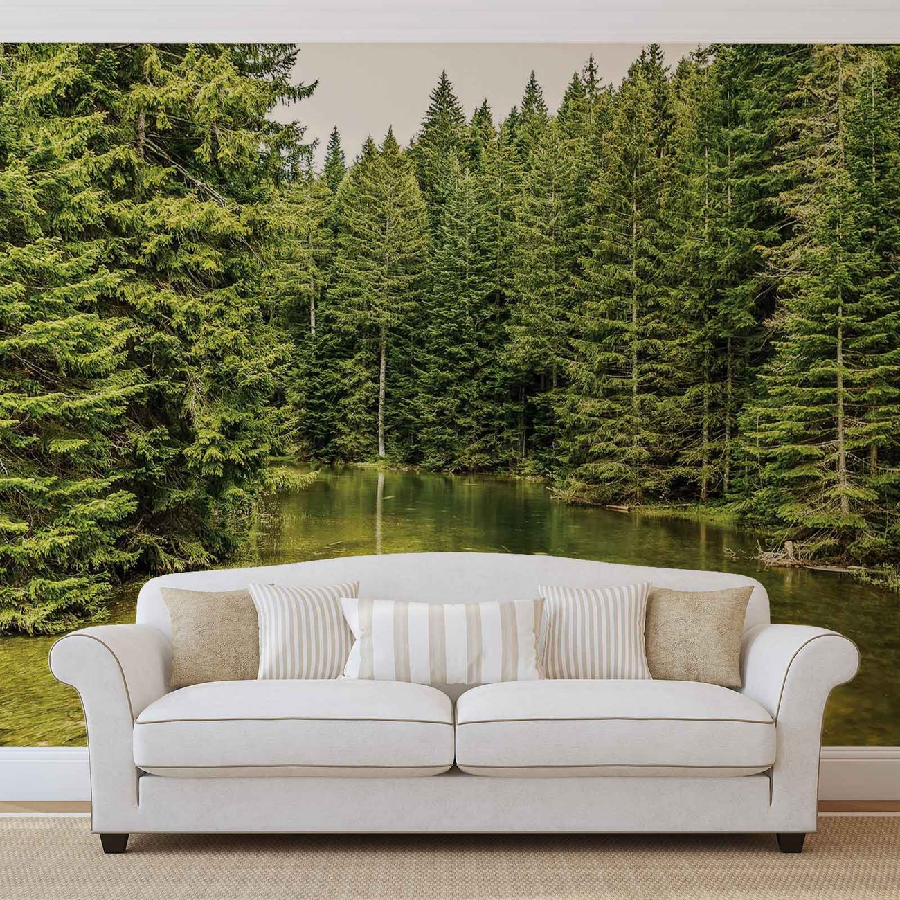fototapete tapete fluss wald natur bei europosters. Black Bedroom Furniture Sets. Home Design Ideas