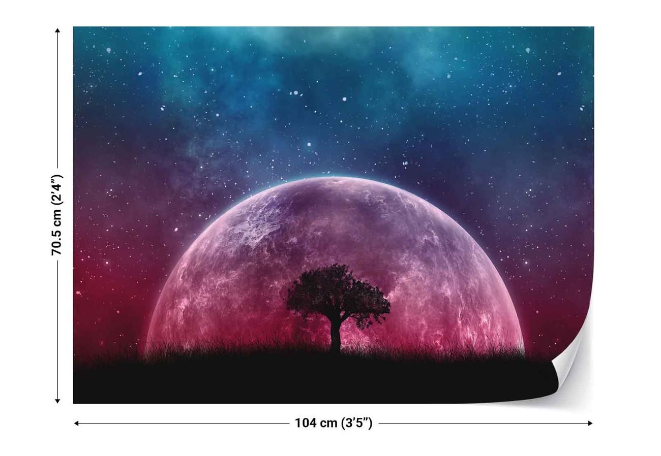 fototapete tapete galaxy tree bei europosters kostenloser versand. Black Bedroom Furniture Sets. Home Design Ideas