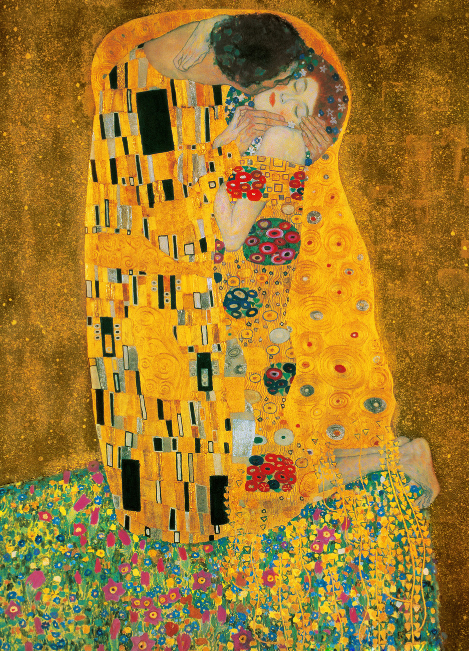 fototapete tapete gustav klimt der kuss 1907 1908 bei europosters kostenloser versand. Black Bedroom Furniture Sets. Home Design Ideas