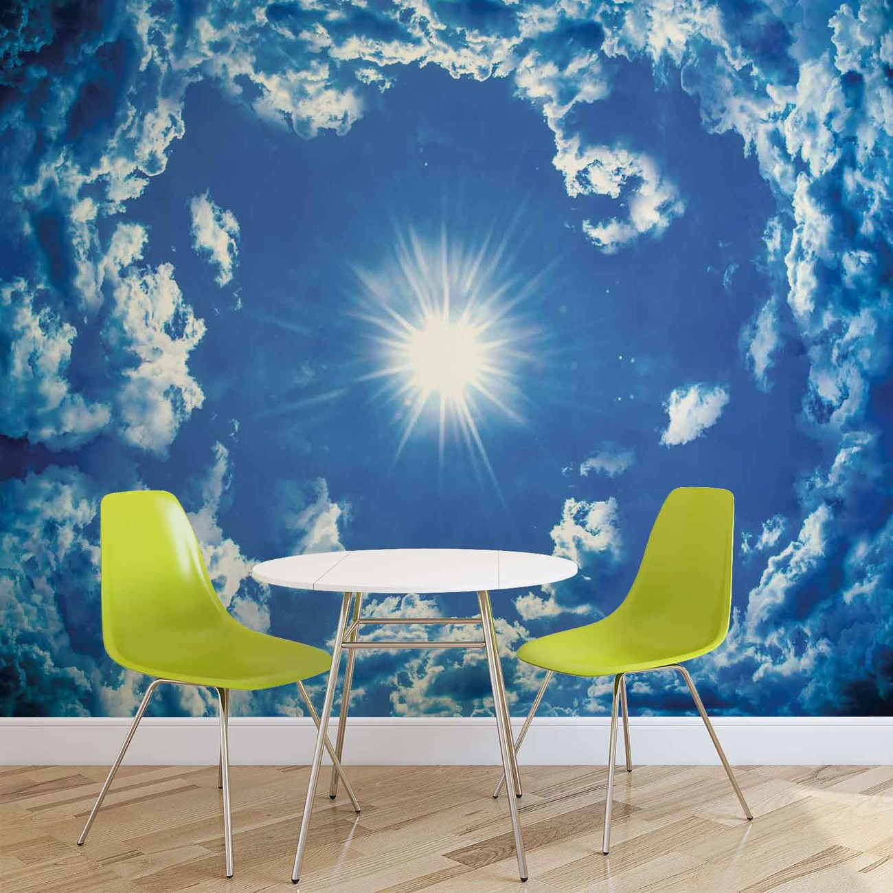 fototapete tapete himmel wolken sonne natur bei. Black Bedroom Furniture Sets. Home Design Ideas