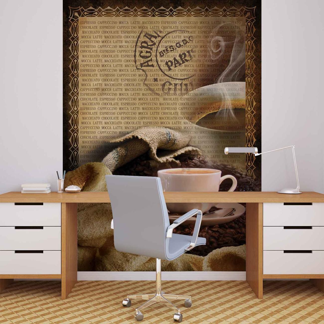 fototapete tapete kaffee bohnen bei europosters. Black Bedroom Furniture Sets. Home Design Ideas