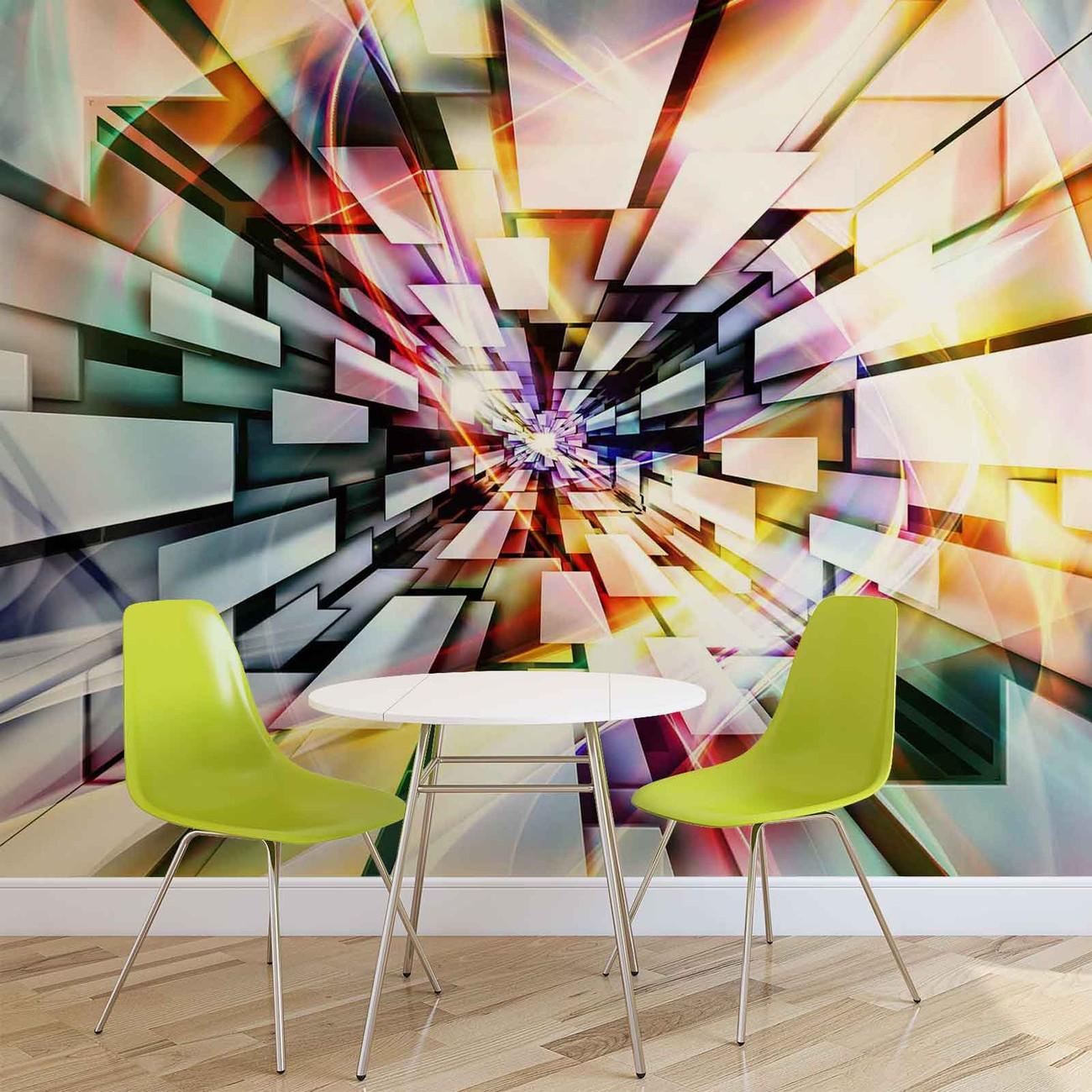 fototapete tapete muster abstrakt bunt bei europosters. Black Bedroom Furniture Sets. Home Design Ideas