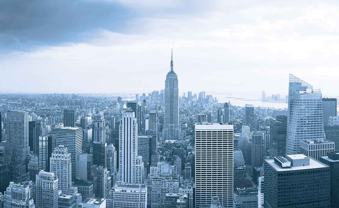 fototapete tapete new york city empire state building bei. Black Bedroom Furniture Sets. Home Design Ideas