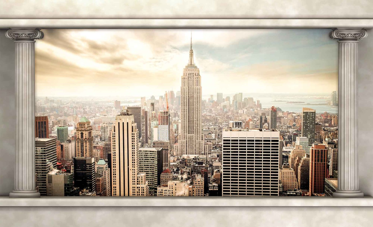 fototapete tapete new york city view s ulen bei europosters. Black Bedroom Furniture Sets. Home Design Ideas