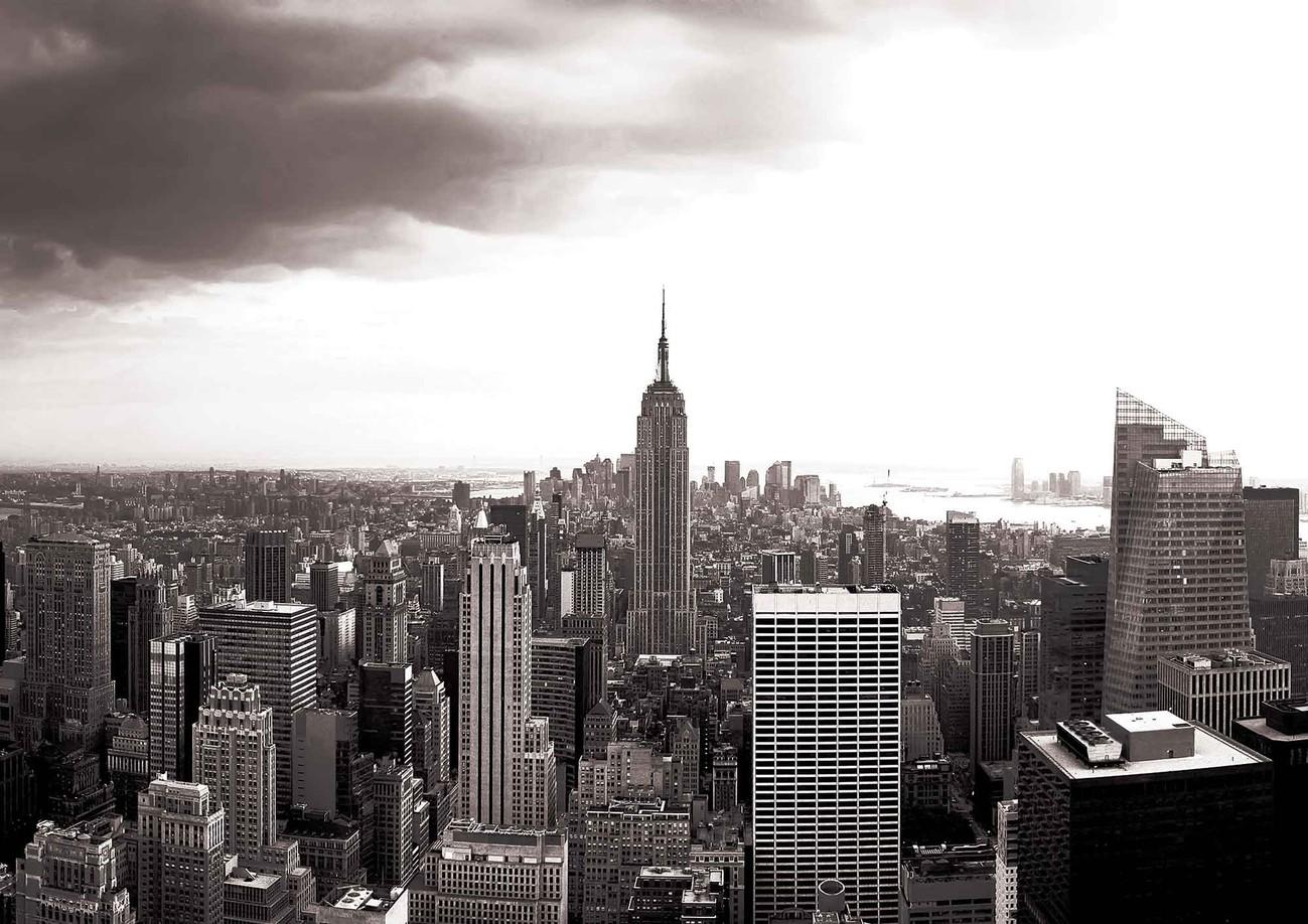 fototapete tapete stadt new york skyline empire state bei. Black Bedroom Furniture Sets. Home Design Ideas