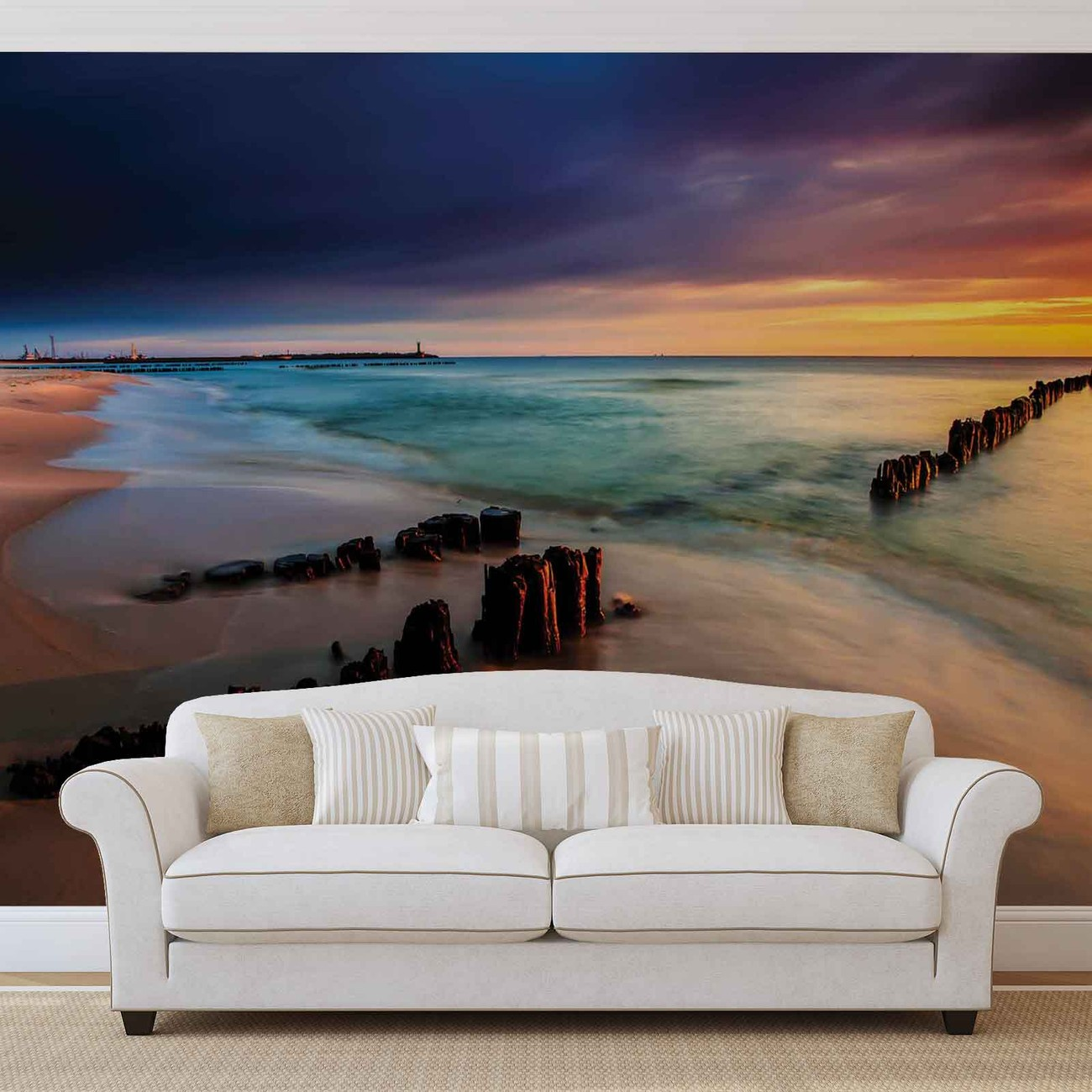 fototapete tapete strand meer sand bei europosters kostenloser versand. Black Bedroom Furniture Sets. Home Design Ideas