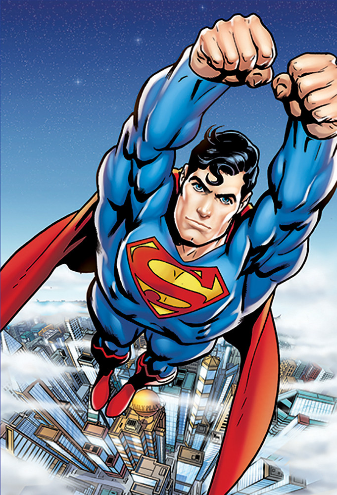 fototapete tapete superman flying bei europosters kostenloser versand. Black Bedroom Furniture Sets. Home Design Ideas