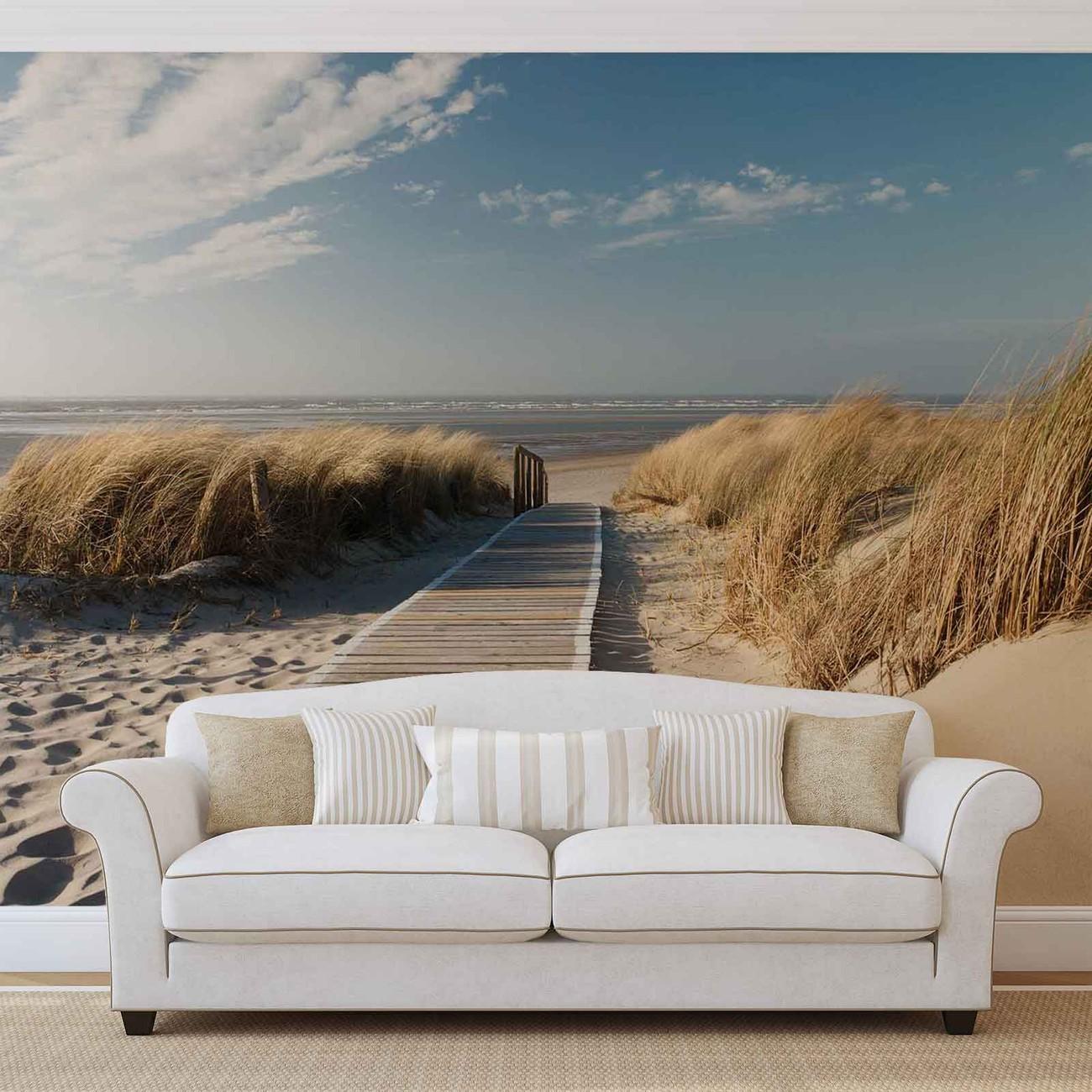 fototapete tapete weg strand natur bei europosters kostenloser versand. Black Bedroom Furniture Sets. Home Design Ideas