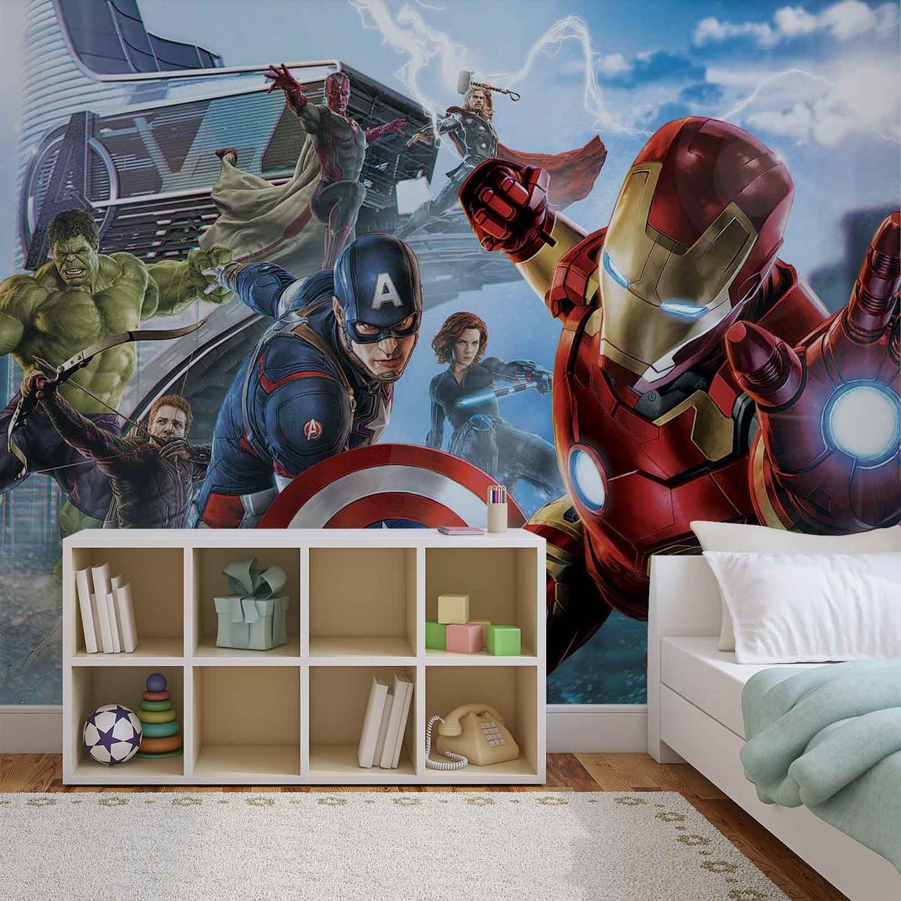 Marvel Avengers Team Fototapeta, Tapeta Na Zeď Na Posters.cz