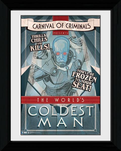bestel een batman comic circus coldest man ingelijste poster op. Black Bedroom Furniture Sets. Home Design Ideas