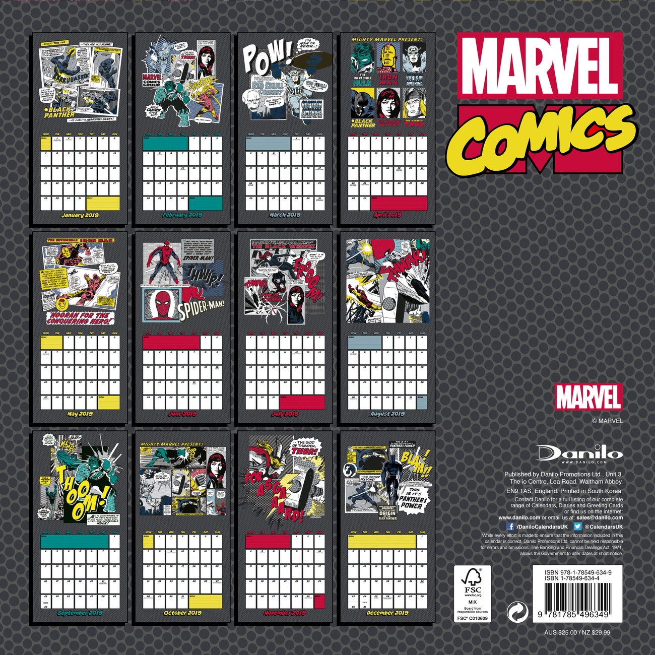 Marvel comics kalend 2019 na - Marvel spiderman comics pdf ...