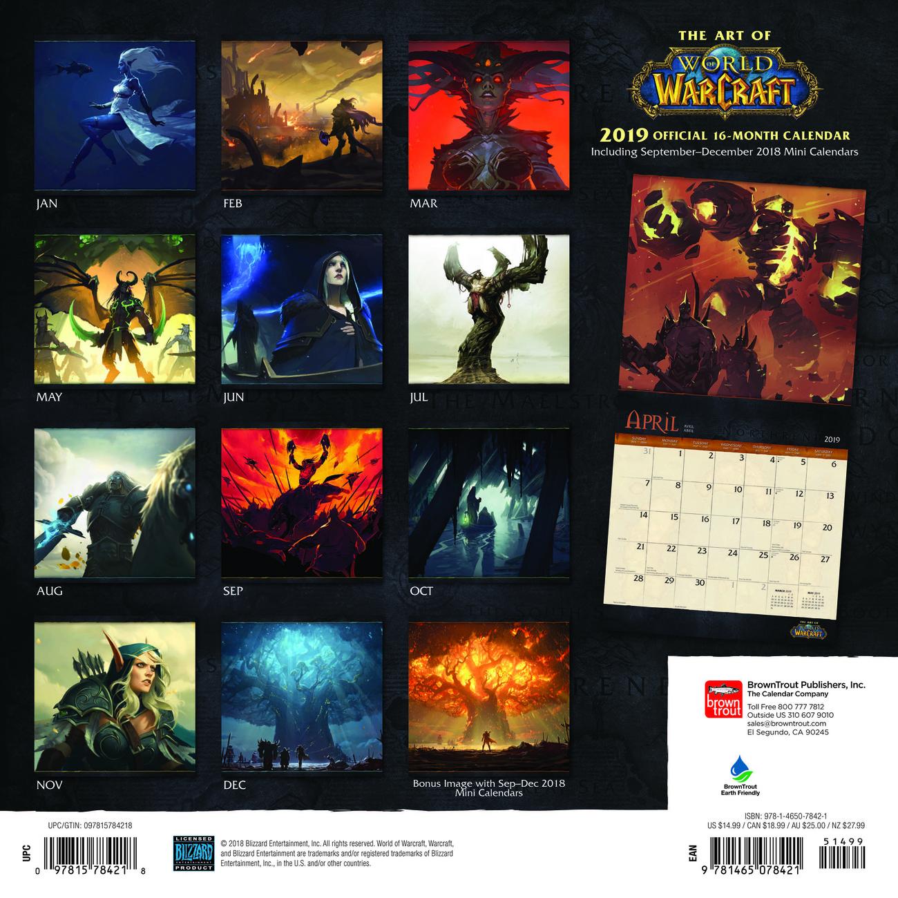 Wow Calendar 2022.World Of Warcraft Kalendarze Scienne 2022 Kup Na Posters Pl