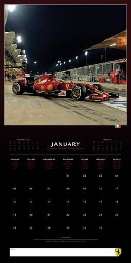 ferrari f1 kalendarz 2019 kup na. Black Bedroom Furniture Sets. Home Design Ideas