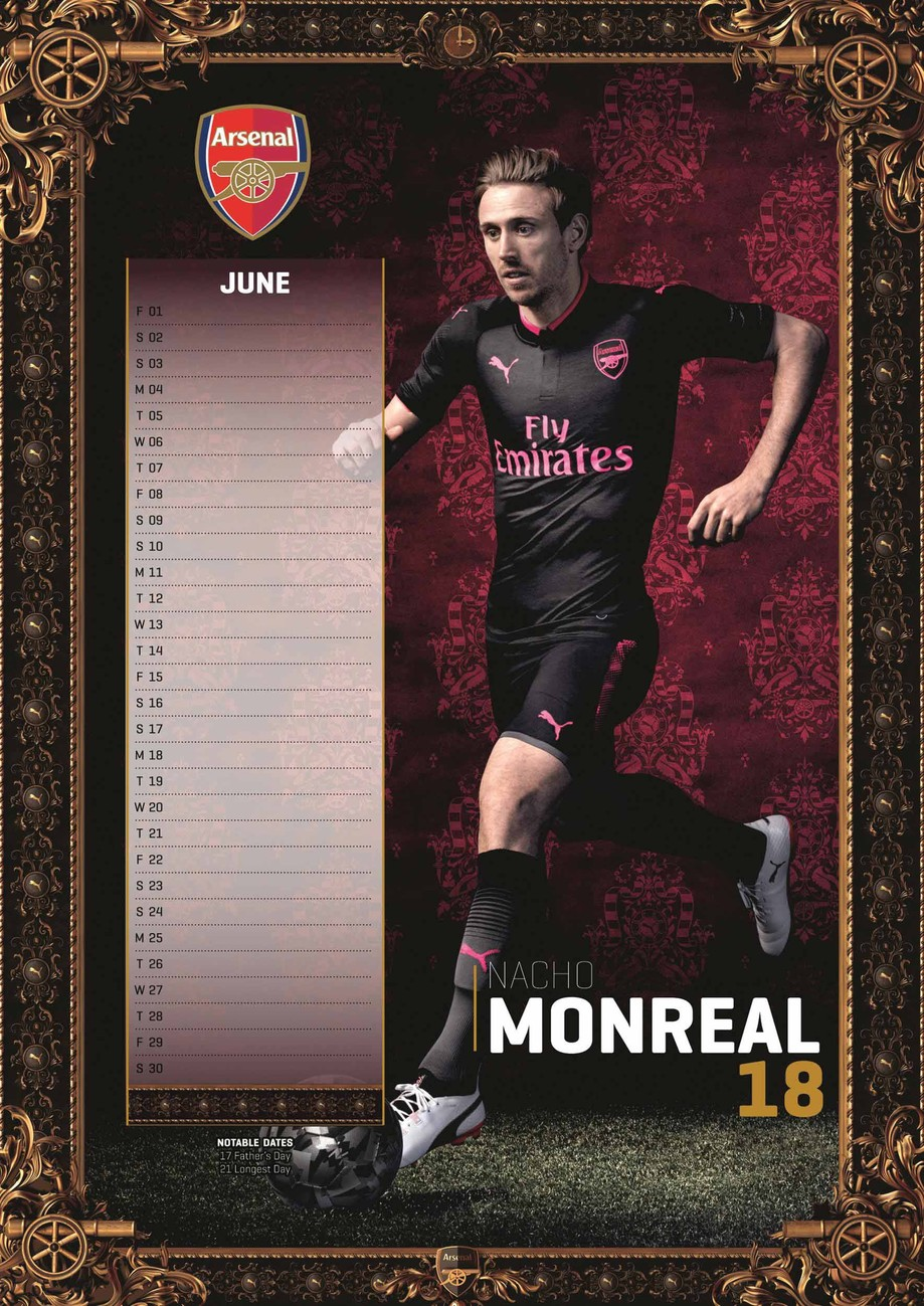 kalender 2019 arsenal bei europosters. Black Bedroom Furniture Sets. Home Design Ideas