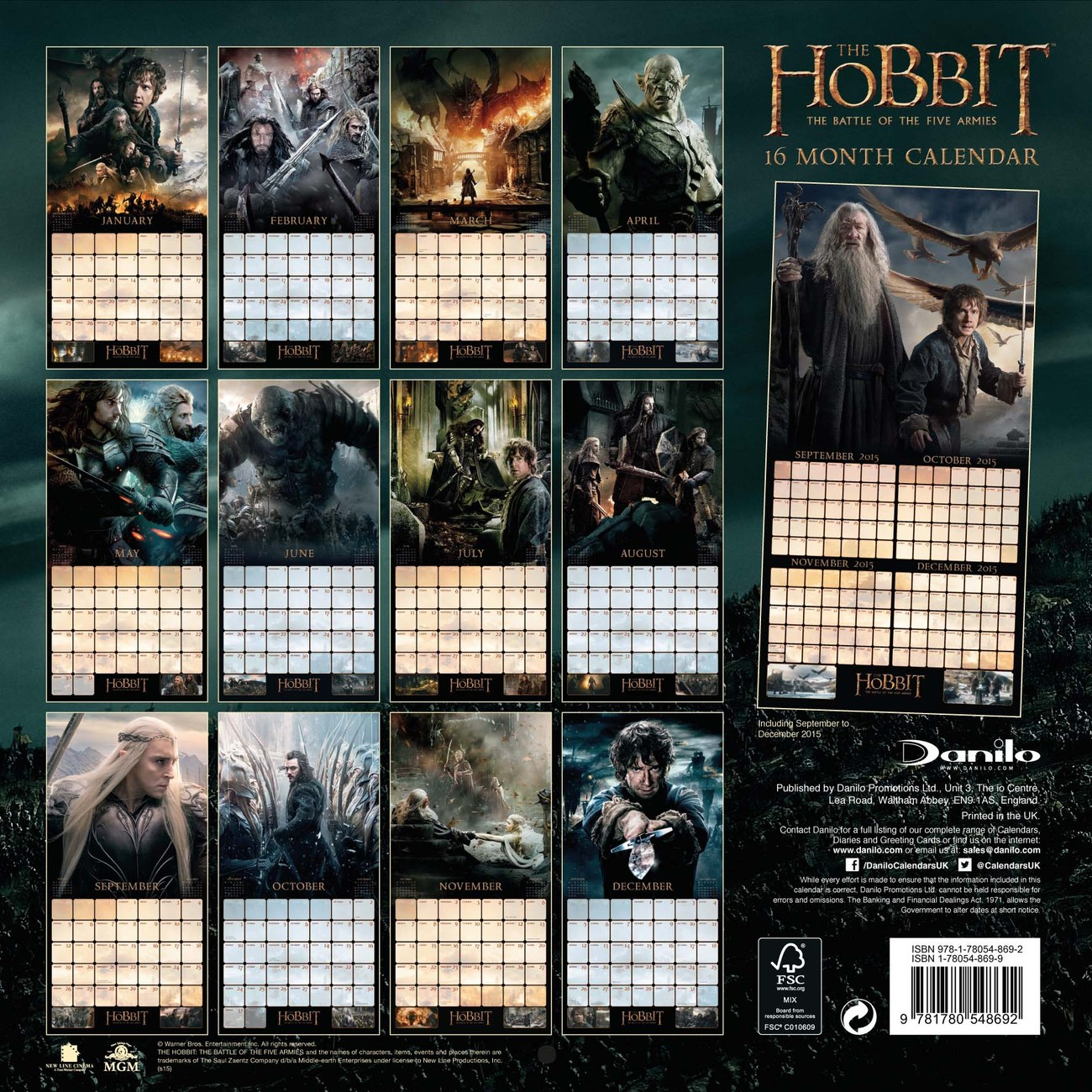 kalender 2019 der hobbit bei europosters. Black Bedroom Furniture Sets. Home Design Ideas