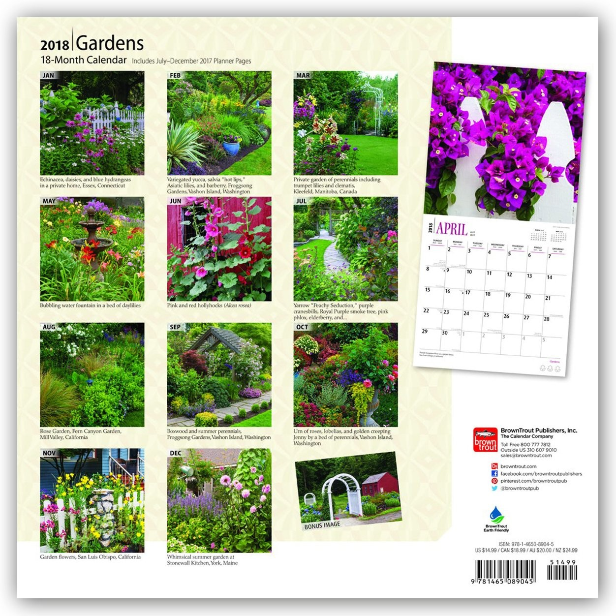 bestel een gardens kalender 2019 op. Black Bedroom Furniture Sets. Home Design Ideas