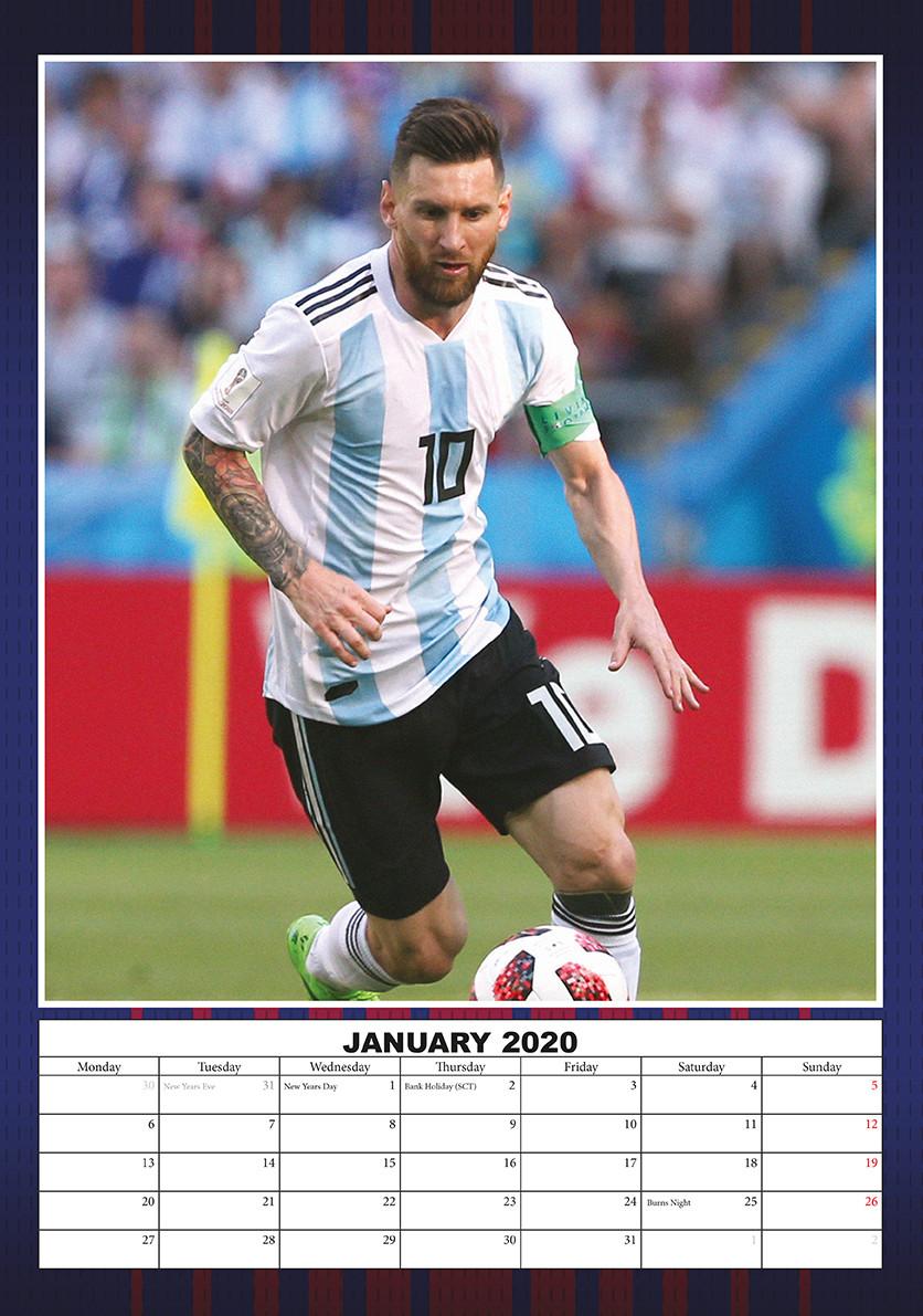 Bestel een Lionel Messi kalender 2021 op EuroPosters.nl