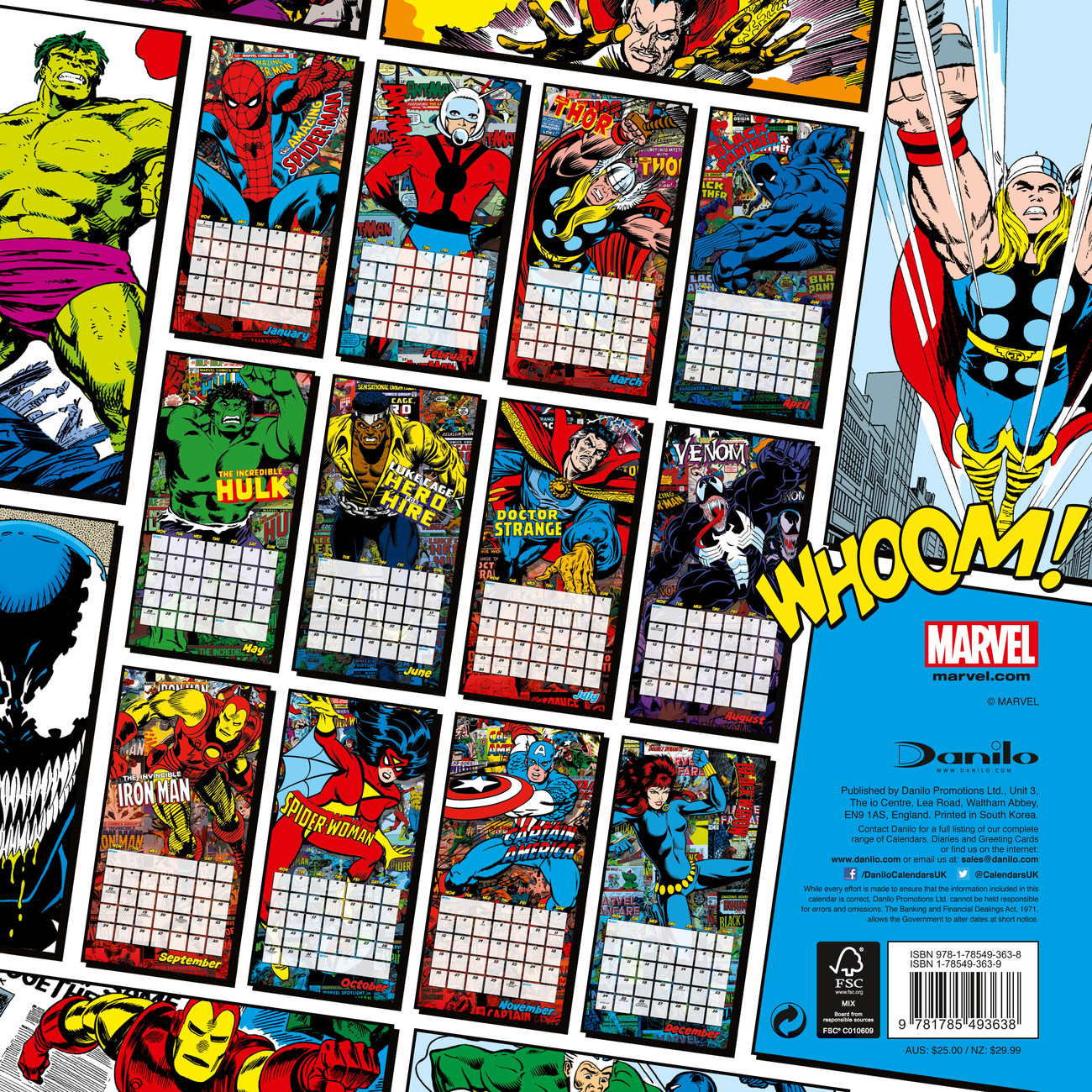 kalender 2020 marvel comics classics bei europosters. Black Bedroom Furniture Sets. Home Design Ideas