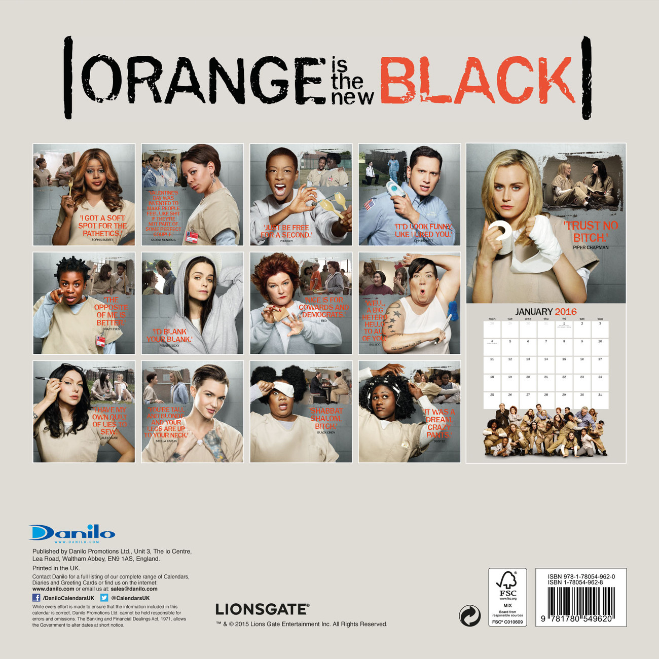kalender 2019 orange is the new black bei europosters. Black Bedroom Furniture Sets. Home Design Ideas