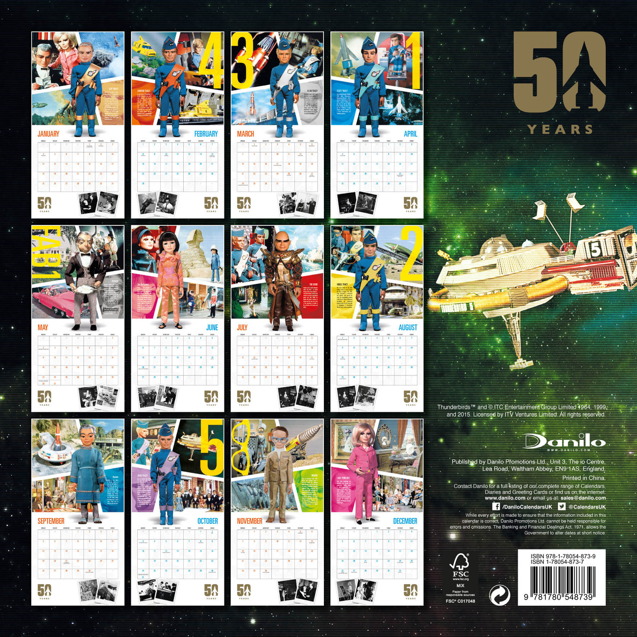Kalender 2019 Thunderbirds - Classic Edition bei EuroPosters