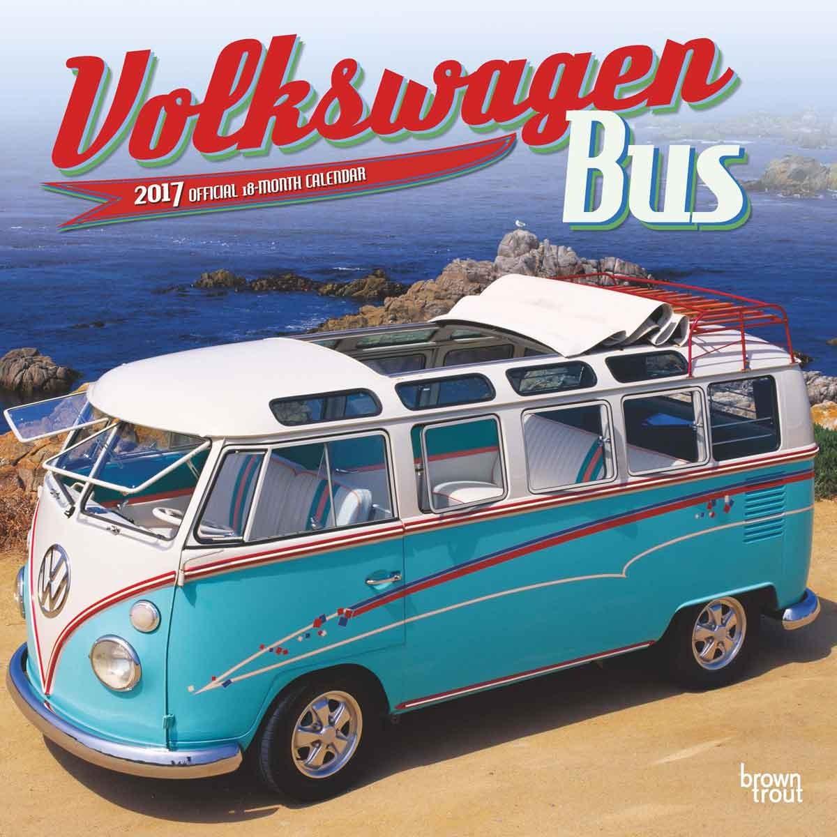 volkswagen bus kalender 2019 kj p hos europosters. Black Bedroom Furniture Sets. Home Design Ideas