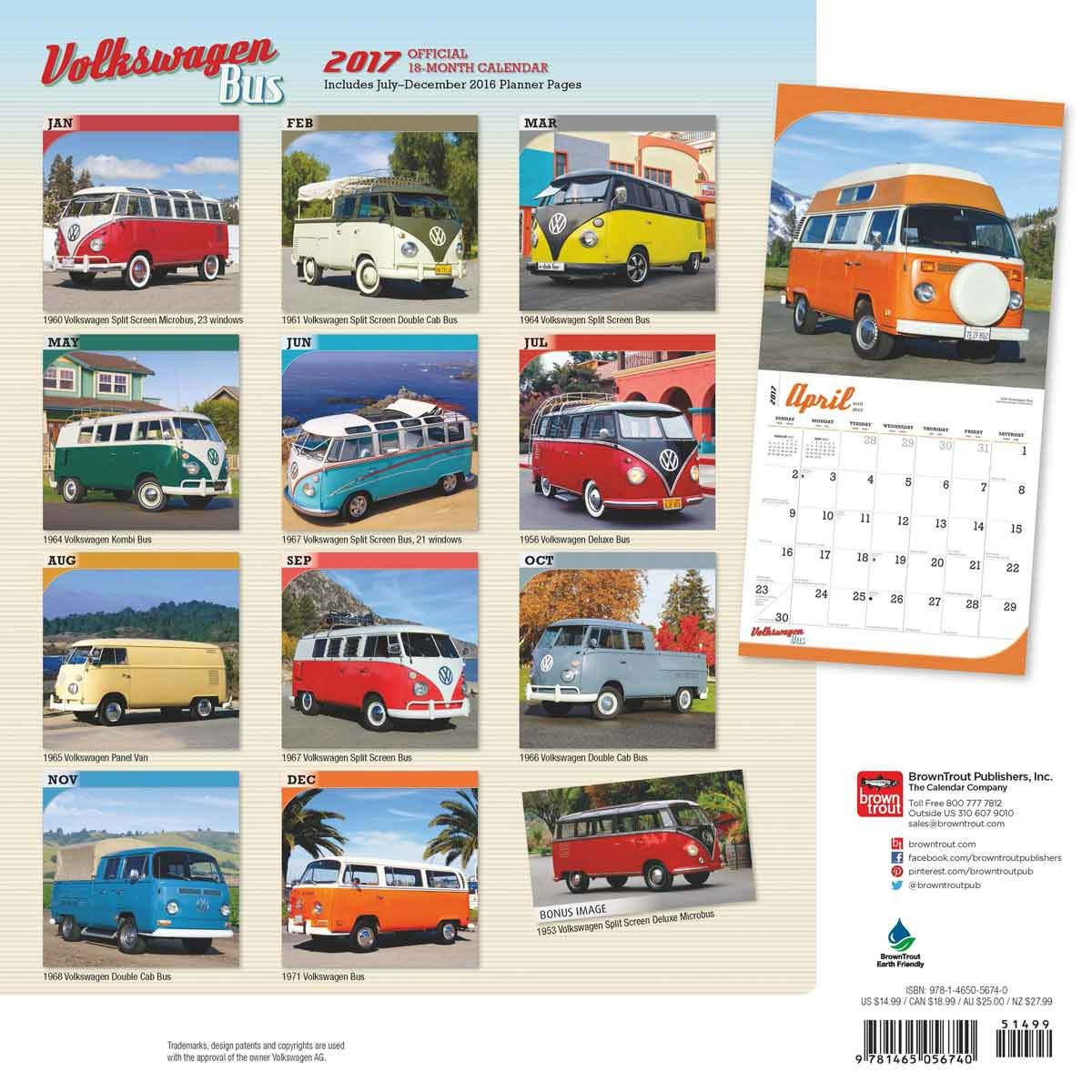 kalender 2019 volkswagen bus. Black Bedroom Furniture Sets. Home Design Ideas