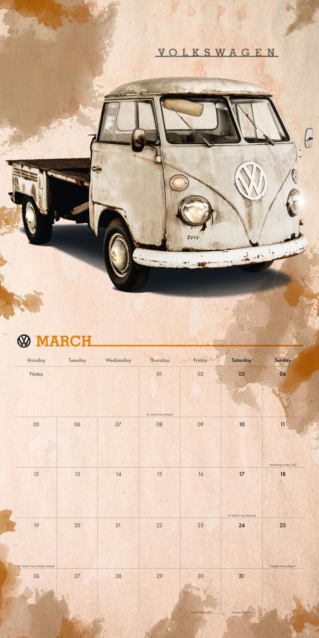 kalender 2019 vw camper vans bei europosters. Black Bedroom Furniture Sets. Home Design Ideas