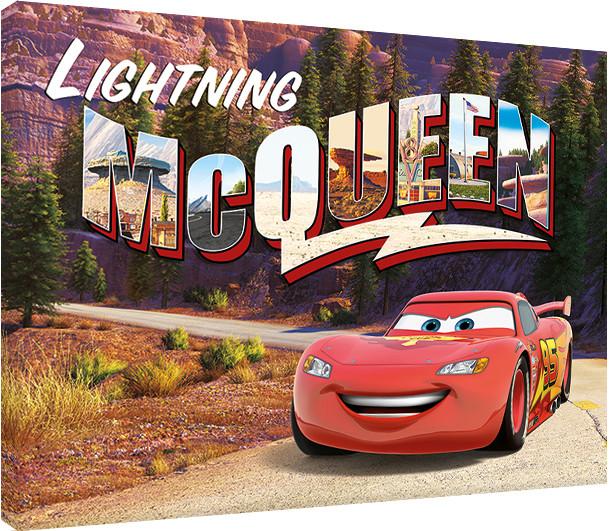 leinwand poster bilder cars lightning mcqueen mountain. Black Bedroom Furniture Sets. Home Design Ideas