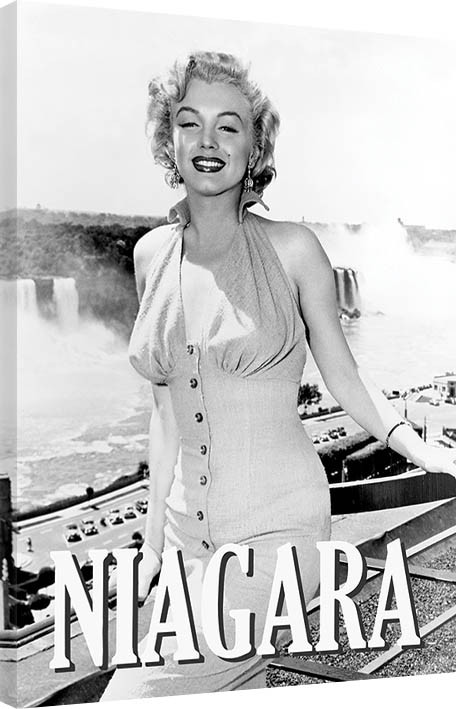leinwand poster bilder marilyn monroe niagara pose bei europosters. Black Bedroom Furniture Sets. Home Design Ideas