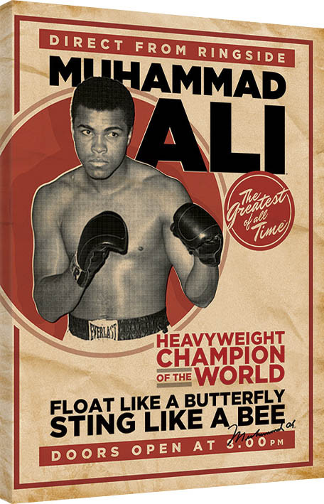 leinwand poster bilder muhammad ali retro corbis bei europosters. Black Bedroom Furniture Sets. Home Design Ideas