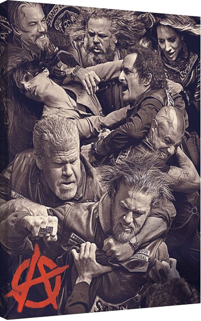 leinwand poster bilder sons of anarchy fight bei. Black Bedroom Furniture Sets. Home Design Ideas