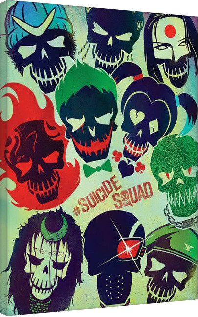 leinwand poster bilder suicide squad skulls bei europosters. Black Bedroom Furniture Sets. Home Design Ideas