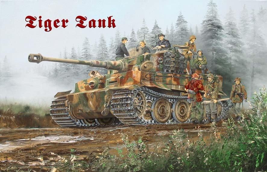 Dauer Wand Kalender Waffe  Tiger Panzer Metall Magnet