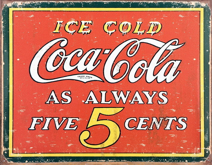 Sign for FIVE CENTS