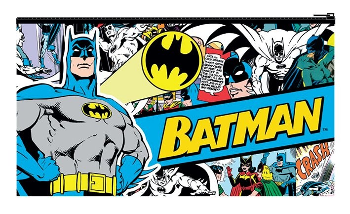 batman retro budget pencil case notitieblok op. Black Bedroom Furniture Sets. Home Design Ideas